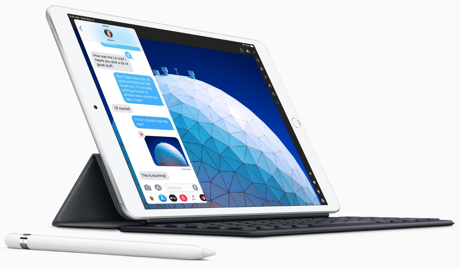 iPad Air with Pencil and keyboard